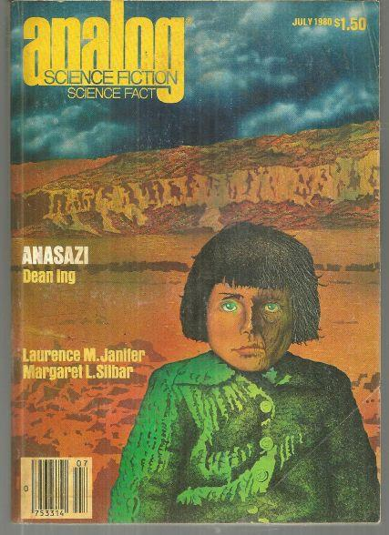 Analog Science Fiction Science Fact Magazine July 1980 Anasazi by Dean Ing