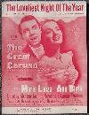 Loveliest Night of the Year Starring Mario Lanza and Ann Blyth 1950 Sheet Music