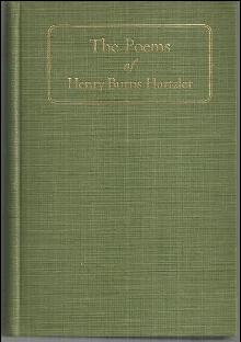 Poems by Rev. Henry Burns Hartzler 1920 1st edition