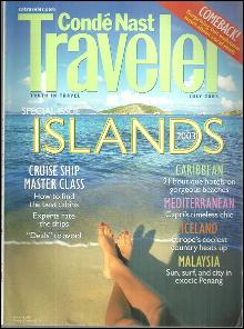 Conde Nast Traveler Magazine July 2003 Special Issue Islands on the cover