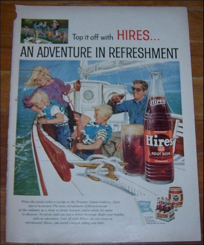 1959 Hires Root Beer Magazine Life Magazine Color Advertisement Adventure