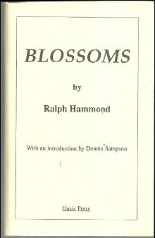 Blossoms Signed by Ralph Hammond 1990 1st edition Poetry