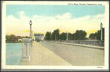 intage Postcard of Yazoo River Bridge, Greenwood, Mississippi
