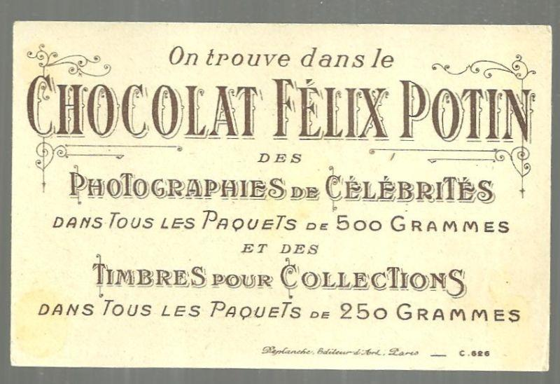 Victorian Trade Card for Chocolat Felix Potin, France Rooster with Dog