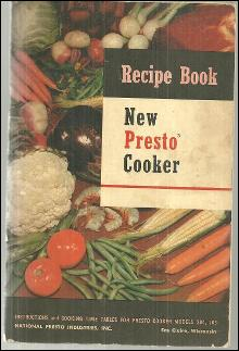 New Presto Cooker Recipe Book Instructions and Recipes 1954 Booklet