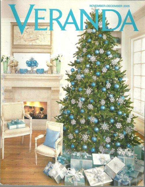 Veranda Magazine November-December 2005 Rhapsody in Blue at Christmastime