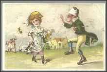 Victorian Trade Card for Fleischmann and Co.' s Yeast with Dancing Couple