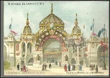 Victorian Trade Card for Ville de Saint Denis, Paris Palais de Des Mines