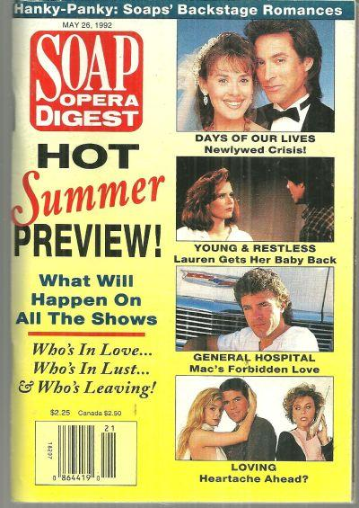 Soap Opera Digest Magazine May 26, 1992 Hot Summer Preview on the Cover