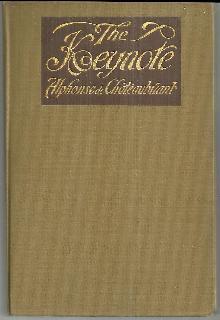 Keynote (Monsieur Des Lourdines) by Alphonse De Chateaubriant 1912