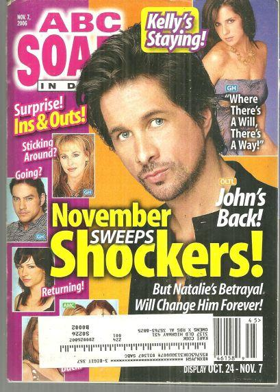 ABC Soaps in Depth Magazine November 7, 2006 November Sweeps on Cover
