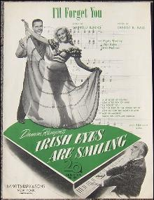 I'll Forget You From Damon Runyon's Irish Eyes are Smiling 1921 Sheet Music