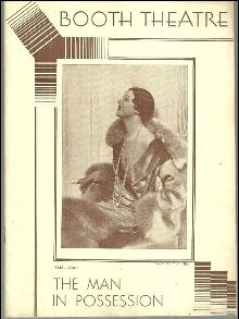 Playbill Isabel Jeans in the Man in Possession, January 12, 1931