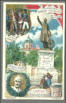 Victorian Trade Card Liebig Company's Fleisch-Extract Tribute to Francois Arago