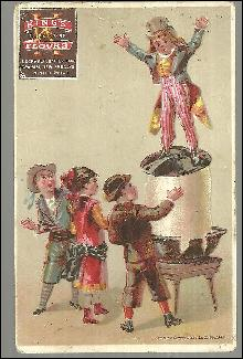 Victorian Trade Card For King's Flour with Children and Rising Dough