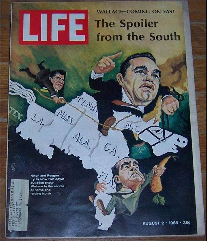 Life Magazine August 2, 1968 Wallace Spoiler From the South on the cover
