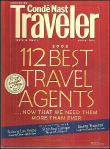 Conde Nast Traveler Magazine August 2002 112 Best Travel Agents on the Cover