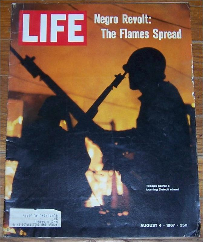 Life Magazine August 4, 1967  Negro Revolt, The Flames Spread on cover