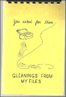 You Asked for Them Gleanings from My Files by Marjorie Ferguson 1971 Recipes