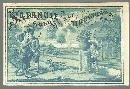 Victorian Trade Card for Sapanule With Courting Couple in Garden Shot by Cupid