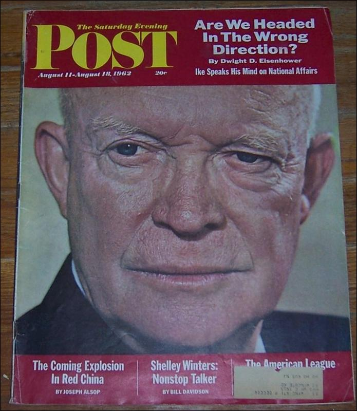 Saturday Evening Post Magazine August 11-18, 1962 Eisenhower on Cover