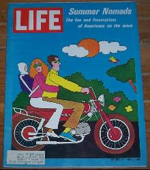 Life Magazine August 14, 1970 Summer Nomads by Lionel Kalish on cover