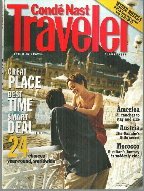 Conde Nast Traveler Magazine August 1999 San Sebastian, Spain on the Cover