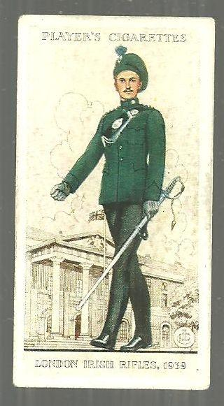 Vintage Player's Cigarette Card with London Irish Rifles #46
