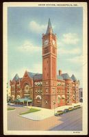 Postcard of Union Station, Indianapolis, Indiana