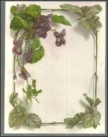 Victorian Trade Card for Spitz Bros. And Mork Clothing with Violets