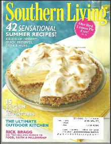 Southern Living Magazine August 2011 Our Best Lemon Pie Ever on Cover