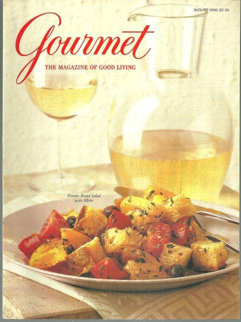 Gourmet Magazine August 1996 Herbed Tomato Bread Salad On Cover