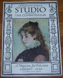 International Studio Associated with Connoisseur Magazine August 1928 Clocks