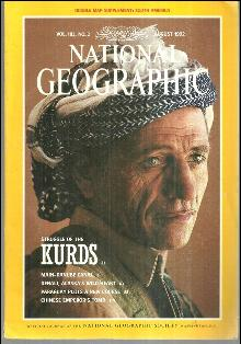 National Geographic Magazine August 1992 Struggle of the Kurds by Hitchens