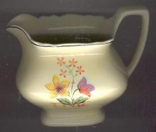 WS George Pottery Lido Canarytone Creamer with Tulip Decal