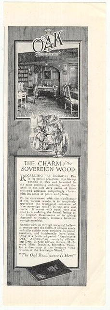 Oak the Sovereign Wood 1926 Advertisement