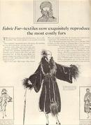 1921 Ladies Home Journal Fabric Fur Magazine Advertisement