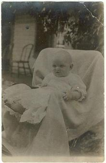 Baby in Christianing Gown Photo postcard