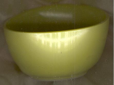 Hazel Atlas Ovide Chartreuse Cereal Bowl