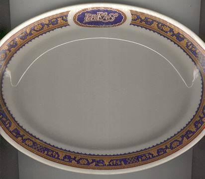 Lamberton Le Kas` Restaurant Oval Platter