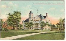 Postcard of Washington High School, Cedar Rapids, Iowa