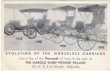 Harold Warp Pioneer Village Minden, Nebraska Postcard