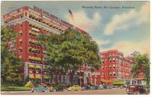 Majestic Hotel, Hot Springs, Arkansas 1945 postcard