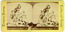 The Albert Memorial-Asia, London Stereoview Card