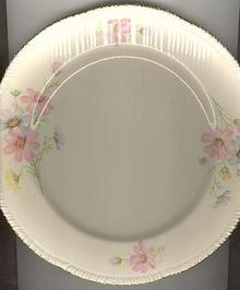 Homer Laughlin Liberty Dinner Plate with Cosmo Flowers