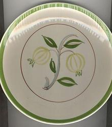 Blue Ridge Southern Pottery Forest Fruit Plate