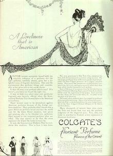 Colgate's Florient Perfume 1921 Advertisement