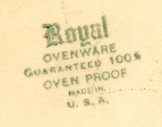 Royal Ceramic Handpainted Pie Plate