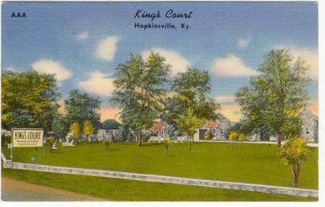 King's Court, Hopkinsville, Kentucky 1955 Postcard