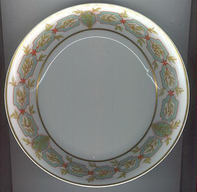 Haviland Limoges Flat Soup Bowl Green Garland Design